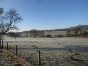The beautiful, crisp winter countryside surrounding the town of Clitheroe.